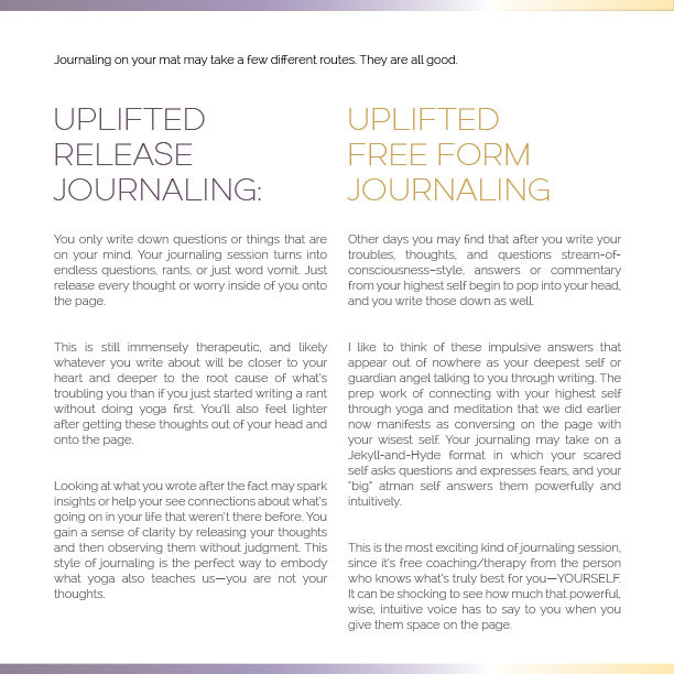 Uplifted booklet