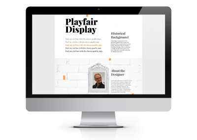 Playfair Display font webpage